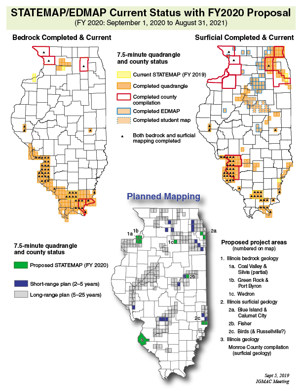 Status of mapping in Illinois under the USGS StateMap program
