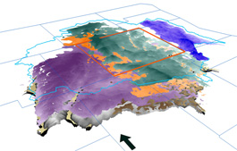 Regional 3D Geologic Surfaces created in software