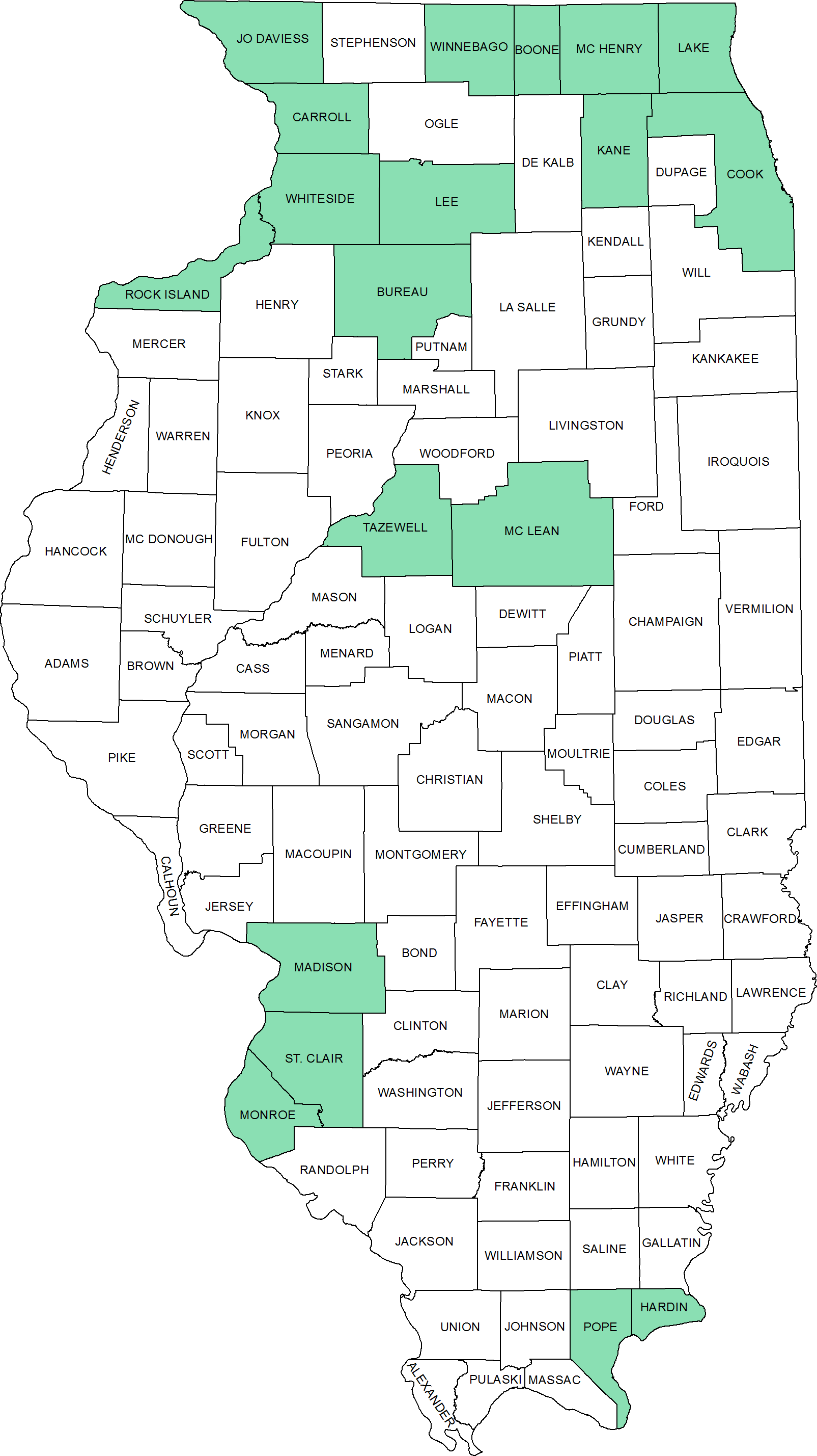 County Map Illinois Illinois State Geological Survey County Maps | ISGS