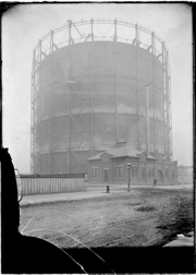 A 1902 Photograph of a Gasometer on Deering Street in Chicago