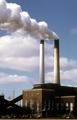 Coal-powered Abbott Power Plant, Champaign, Illinois.
