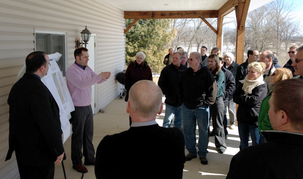 Jason Thomason (ISGS) speaks to attendees of the groundwater workshops on March 14 in McHenry County, Illinois.