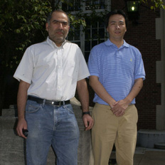 Seyed Dastgheib, left, and Yongqi Lu, co-principle investigators on the project.