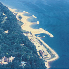 Forest Park Beach aerial photo.