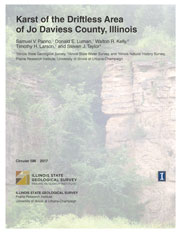 Cover of Circular 586: Karst of the Driftless Area of Jo Daviess County, Illinois