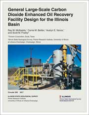 Cover of Circular 592: General Large-Scale Carbon Dioxide Enhanced Oil Recovery Facility Design for the Illinois Basin