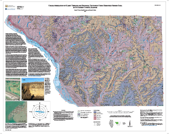 Characterization of karst terrain and regional tectonics using remotely sensed data in Jo Daviess County, Illinois