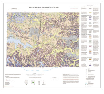 Surficial Geology of Williamson County, Illinois, map thumbnail, sheet 1