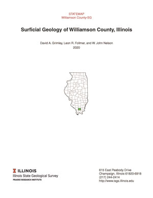 Surficial Geology of Williamson County, Illinois, report thumbnail, cover page