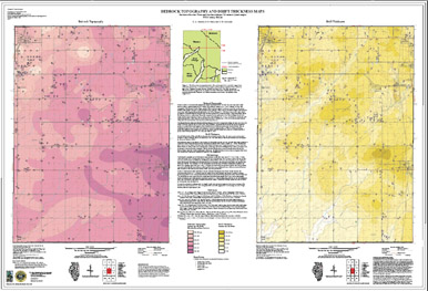 Beecher West Bedrock Map