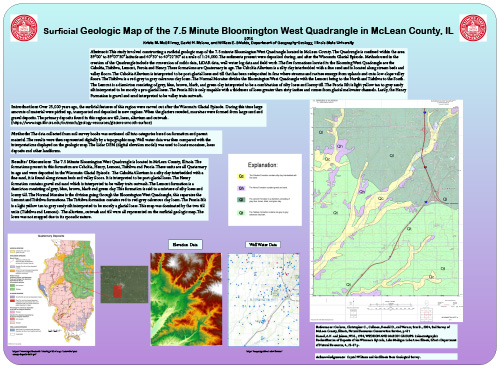Surficial Geologic Map of the 7.5 Minute Bloomington West Quadrangle in McLean County, IL