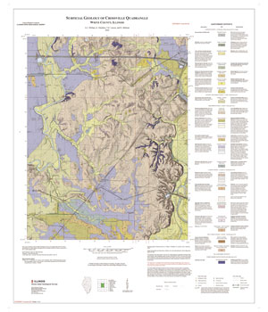 Surficial geology of Crossville Quadrangle, map thumbnail, sheet 1