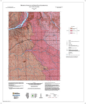 Illinois State Geological Survey Bedrock Geology Of Dixon East - Illinois state geological survey