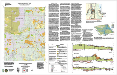 Illinois State Geological Survey Surficial Geology Map Elburn - Illinois state geological survey