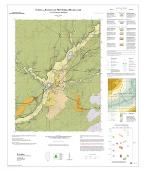 Surficial Geology of Monticello Quadrangle, map thumbnail, sheet 1