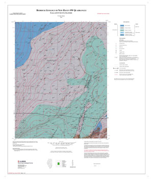 Bedrock geology of New Haven SW Quadrangle, map thumbnail, sheet 1
