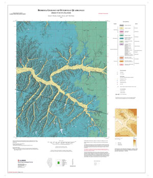 Bedrock geology of Otterville Quadrangle, map thumbnail, sheet 1