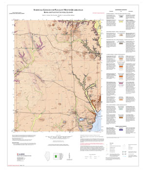 Surficial Geology of Pleasant Mound Quadrangle, map thumbnail, sheet 1