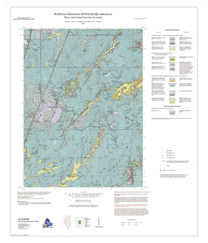 Surficial Geology of Steger Quadrangle, Will and Cook Counties, Illinois, map thumbnail, sheet 1
