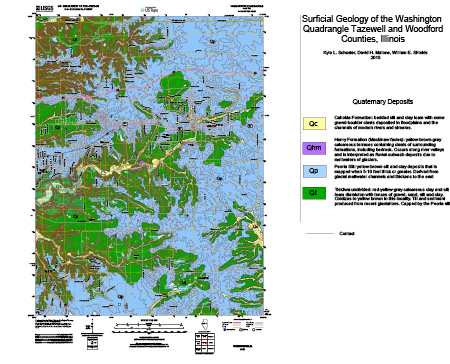 Surficial Geology of the Washington Quadrangle, Tazewell and Woodford Counties, Illinois