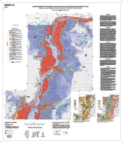 Aquifer sensitivity of the basal sand and gravel of the middle Illinois River valley