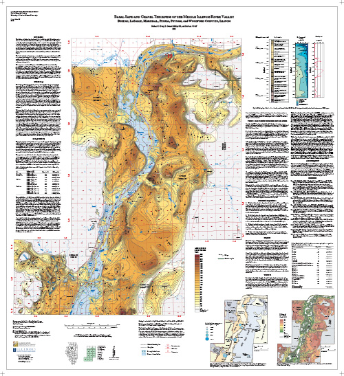 Basal Sand and Gravel Thickness of the Middle Illinois River Valley