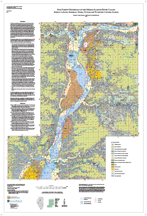 Soil parent materials of the middle Illinois River valley