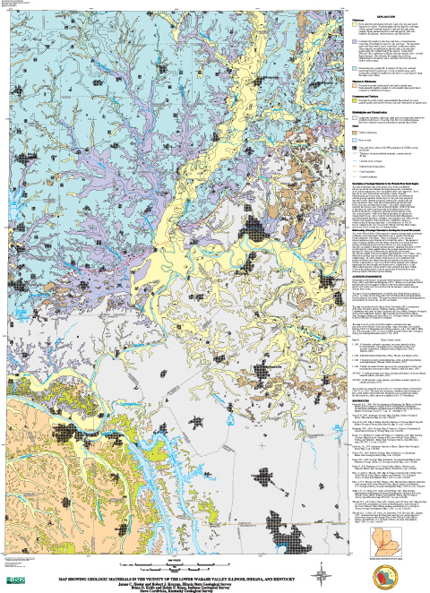 Geologic Materials in the Vicinity of the Lower Wabash Valley Illinois, Indiana, and Kentucky