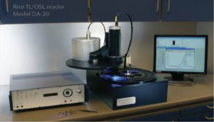 Optically stimulated luminescence dating laboratory