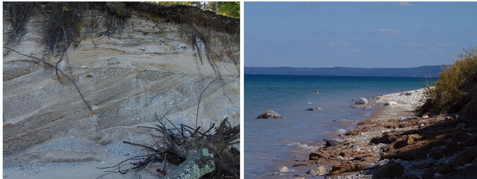 Outcrop and lakeshore images
