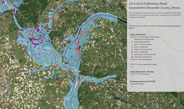 Illinois State Geological Survey 2015-2016 Winter Floods in Illinois on central illinois weather map, illinois county map, web illinois map, detailed illinois map, simple illinois map, illinois elevation map, rockford illinois map, mapquest illinois map, all illinois map, illinois population density map, north illinois map, printable illinois map, 3d illinois map, funny illinois map, illinois state road map,
