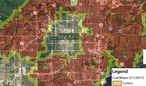 Coal Mines of Illinois Viewer for Springfield