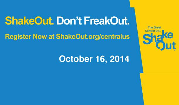 International ShakeOut Day of Action Coming October 16, 2014