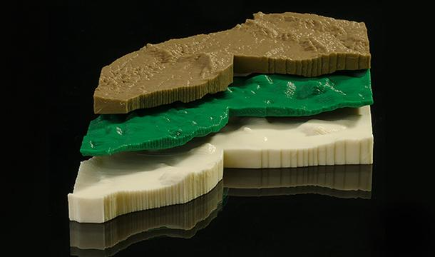 3-D printed aquifer model