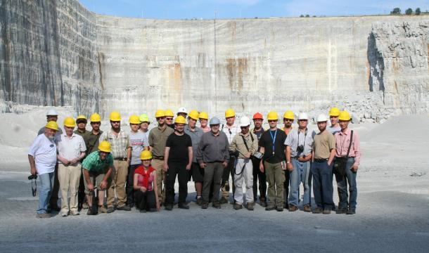 ISGS group at Thornton quarry